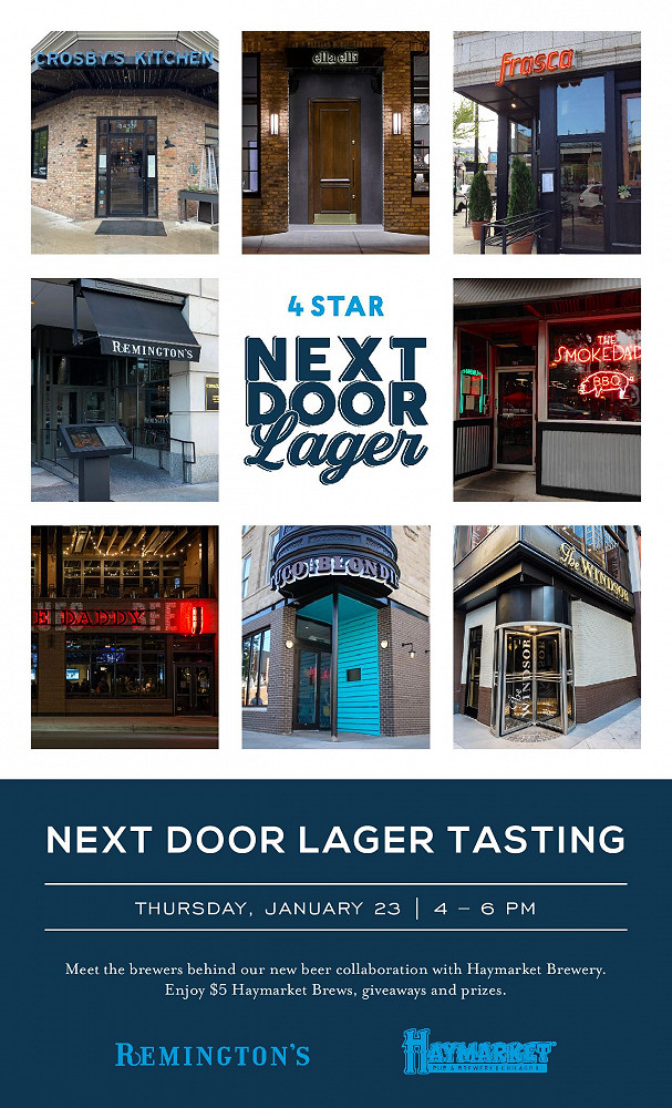 R Next Door Lager Poster page 001